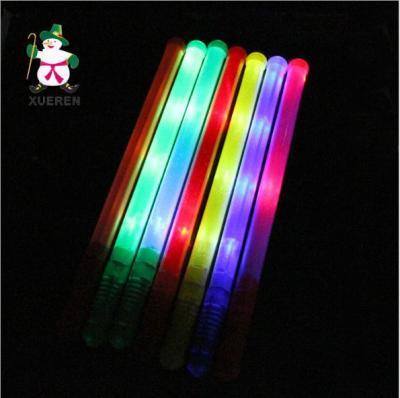 Creative color light stick concert colorful fluorescence stick plastic solid children flash stick wholesale