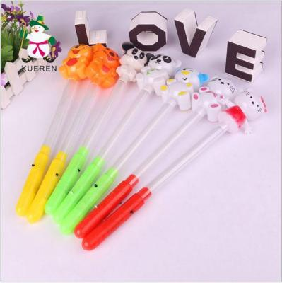 Cute cartoon animals glow sticks of light sticks in concert with flash rod for children's flash stick wholesale