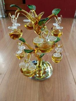 Furniture decoration crafts crystal gold ornaments rich tree Festival