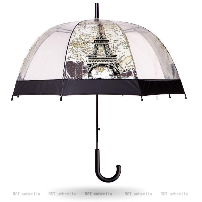 [rst026] arc de triomphe tour transparente commerce extérieur droit parapluie parapluie spot.