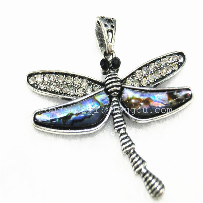 欧格贝艺饰品 合金贝壳系列 欧美热销动物吊坠-蜻蜓