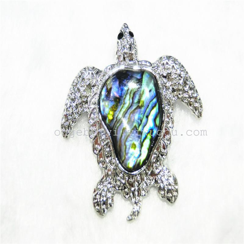 欧格贝艺饰品 合金贝壳系列 欧美热销动物吊坠-乌龟