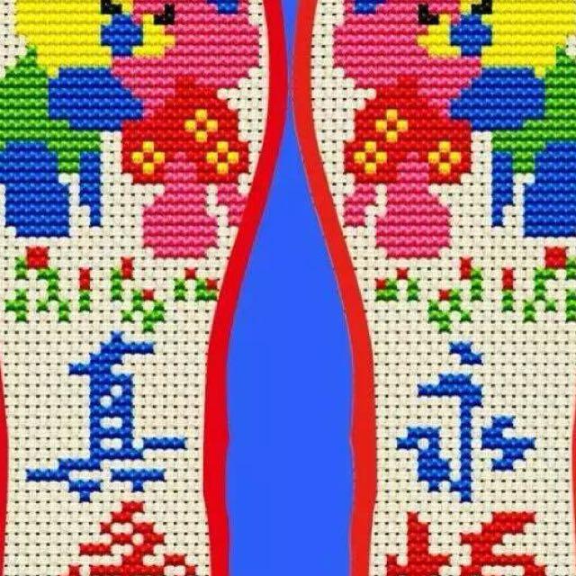 日用品批发升通手工绣花鞋垫精准印花针孔十字绣鞋垫厂家直销 升通