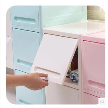 Hide pull open lid lockers large kitchen storage cabinets Home Furnishing plastic bedside cabinet