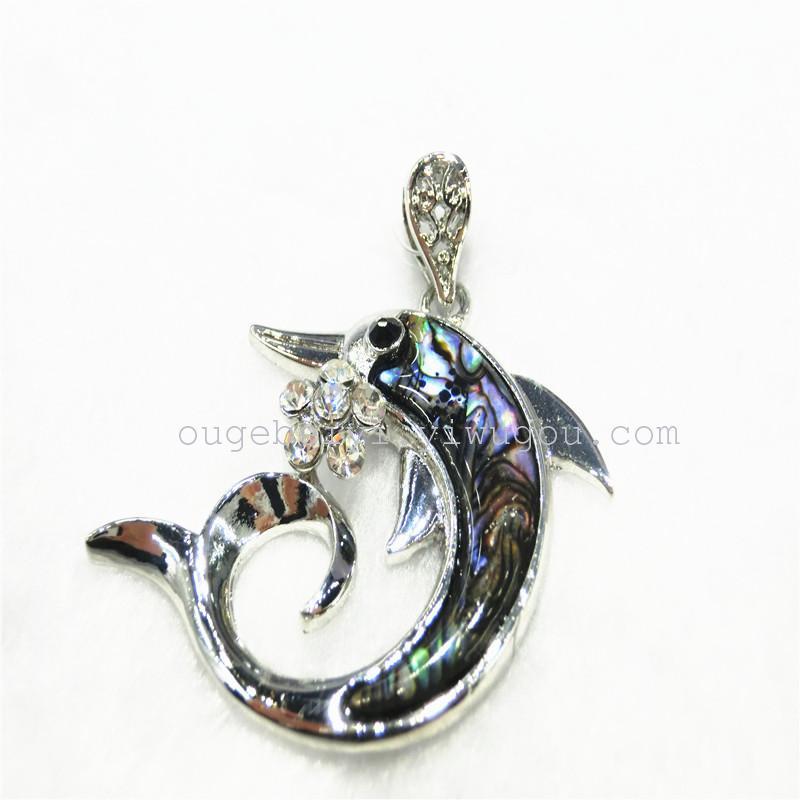 欧格贝艺饰品 合金贝壳系列 欧美热销动物吊坠-海豚