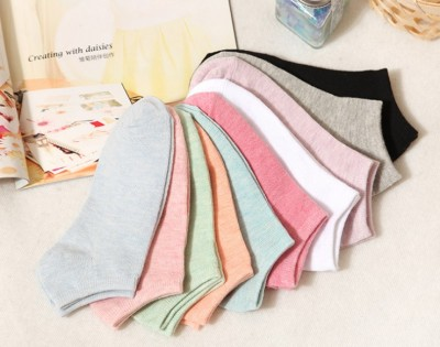 Manufacturers wholesale cotton candy-colored women boat socks Japanese light socks-and-stall socks wholesale