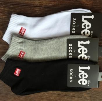 Lee male socks socks shallow mouth thin socks socks for men with low tide pure cotton socks