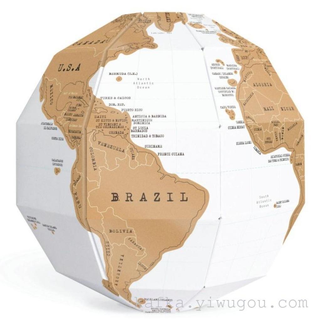刮刮地球仪 3d立体地球仪 刮刮地图世界版