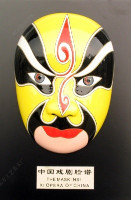 Large supply of tourist handicraft cold porcelain craft decoration mask