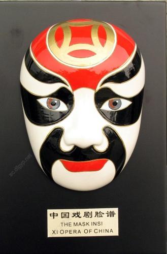 Large supply of tourism crafts cold porcelain decoration mask king Guan Yu