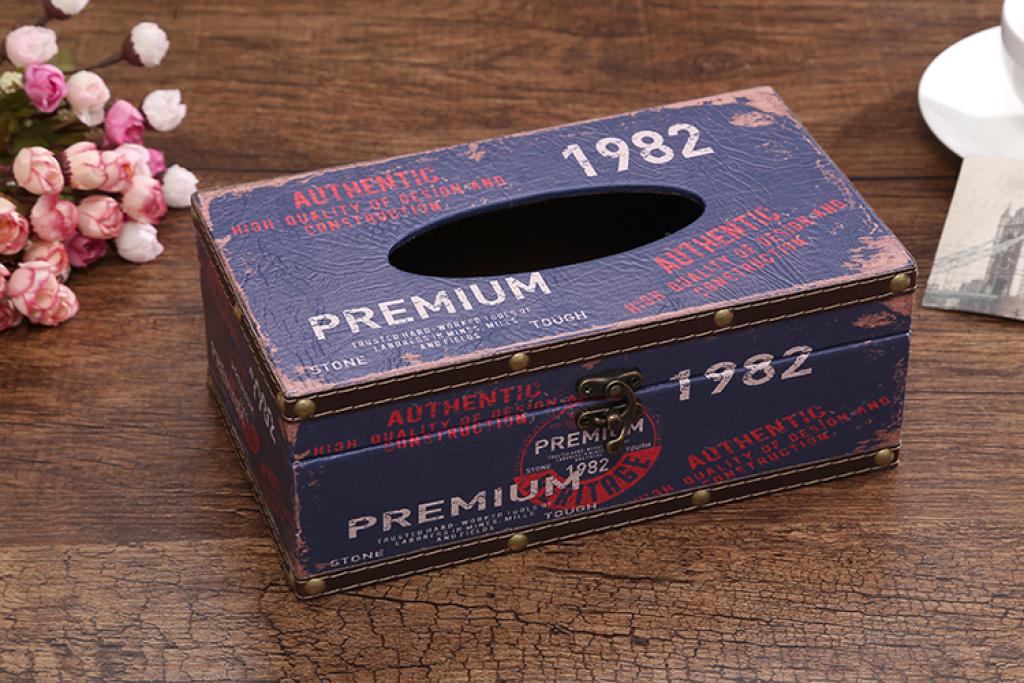 店面装修橱窗道具摆件复古旅行邮票装饰纸抽盒欧式