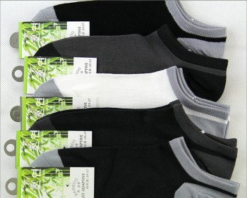 Men's socks socks bamboo fiber antibacterial deodorant socks socks invisible shallow mouth thin socks wholesale