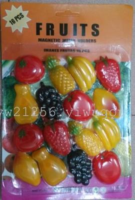 Plastic fruit refrigerator paste magnetic paste white board paste refrigerator