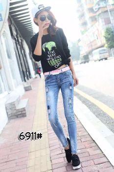 [on] is Zhenzhen spring 2016 new European Korean only jeans 6911