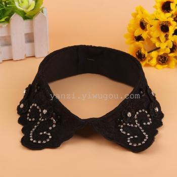 Manufacturer direct new lace Fashion Black handmade DIY accessories collar wholesale origin