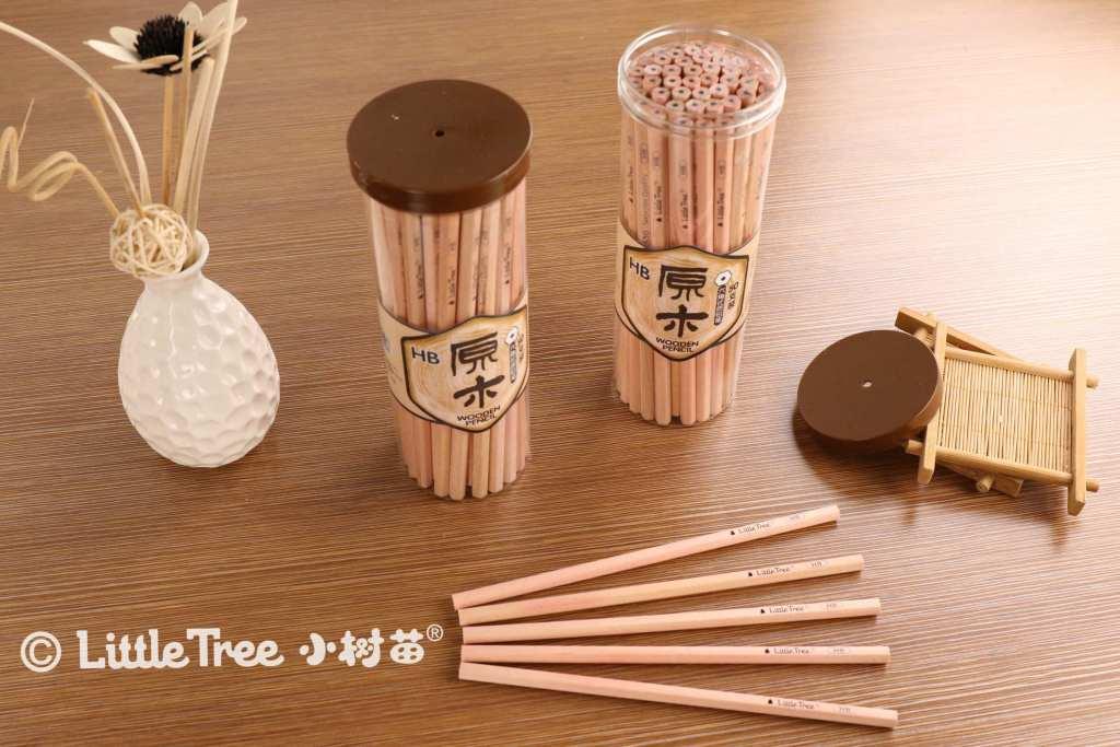 小树苗铅笔 50支原木铅笔