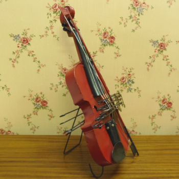 Decorative arts and crafts simulation violin shooting props Cafe clothing shop accessories