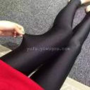 The new 2016 Korean thin sheen pants high elastic stovepipe pants nine