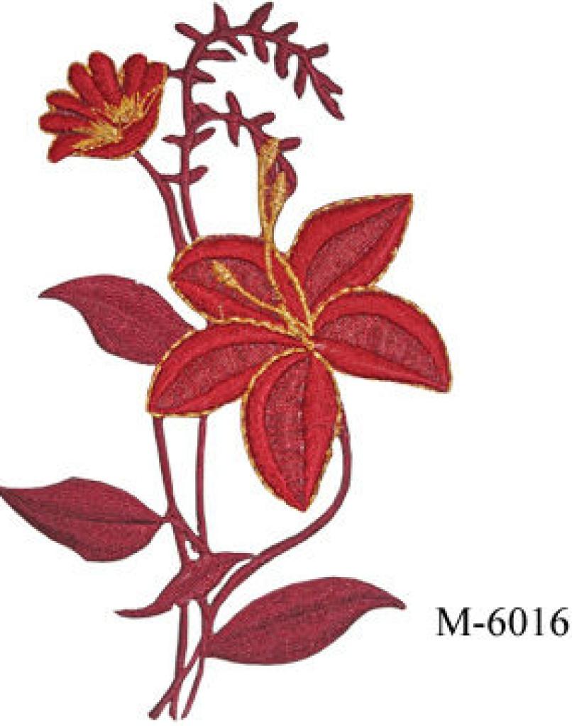 刺绣长玫瑰花