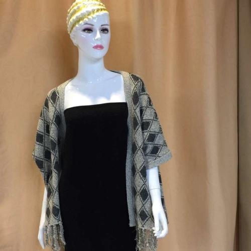New fashion women s casual Argyle knit cardigan British style leisure all-match temperament