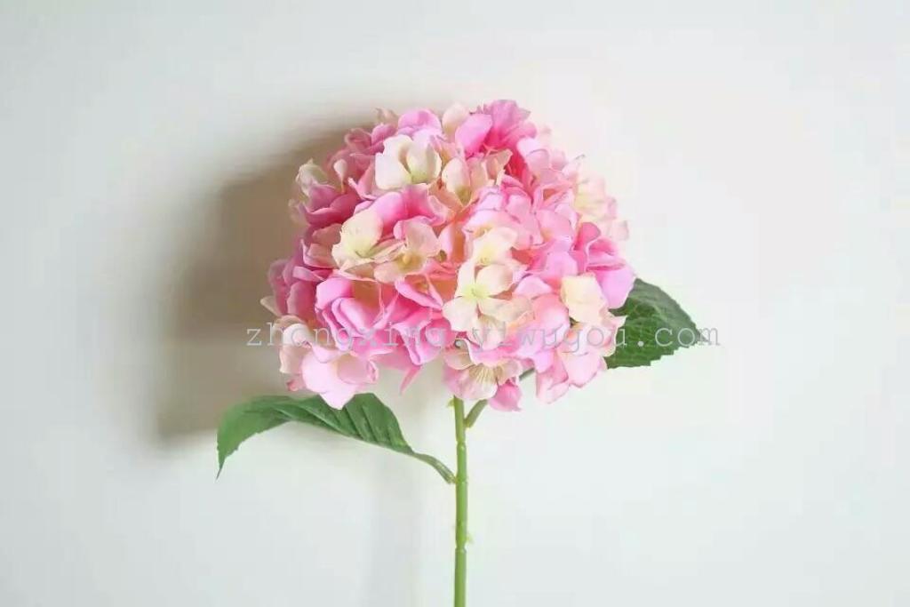 单枝绣球花 仿真高枝花