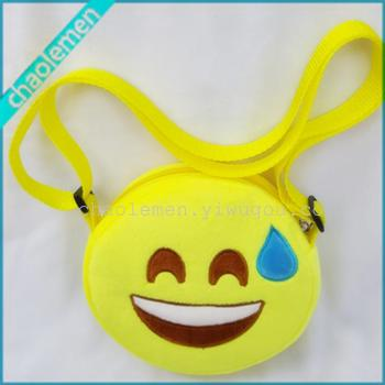 Hot QQ wallet Emoji funny cute face wink plush toys creative small bag