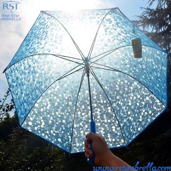 [RST108A] umbrella wholesale creative new transparent umbrella 3D stereo long handle umbrella