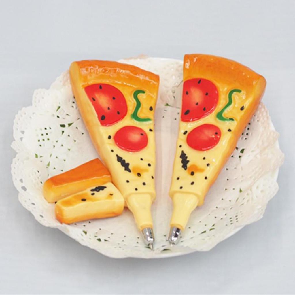 创意食品笔 仿真披萨圆珠笔 可爱冰箱贴 趣味礼品笔 厂家直销