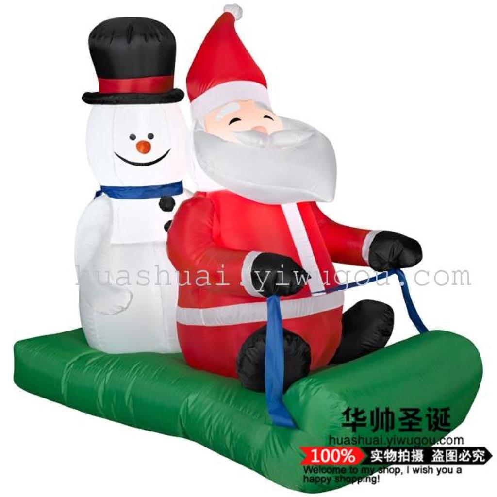 christmas ornaments large christmas scene ornament giant motorized inflatable santa - Motorized Christmas Decorations