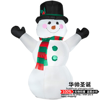 Shop decoration Christmas Snowman inflatable tumbler children holiday toys