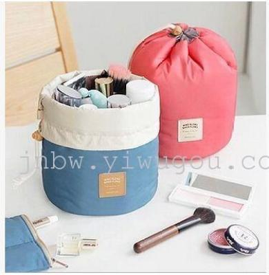 South Korea iconic with multifunctional barrel type travel large capacity pumping with cosmetic bag drum wash bag bag