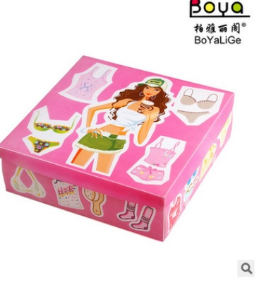 Multi function, Japan and South Korea creative printing ladies underwear storage box transparent PP plastic storage box