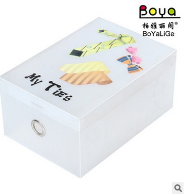 Creative printing transparent PP environmental plastic storage box can be customized to add LOGO plastic box cover