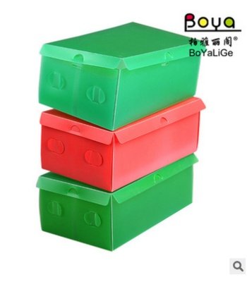 Color transparent plastic clamshell box men and women children's footwear box sundries box
