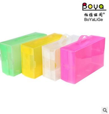 PP plastic portable storage box box color transparent crystal shoe box