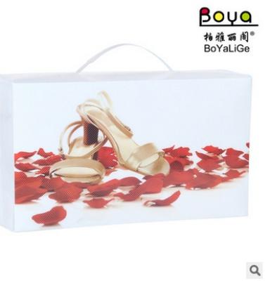 PP plastic printing box portable multifunctional crystal shoe shoe creative Home Furnishing
