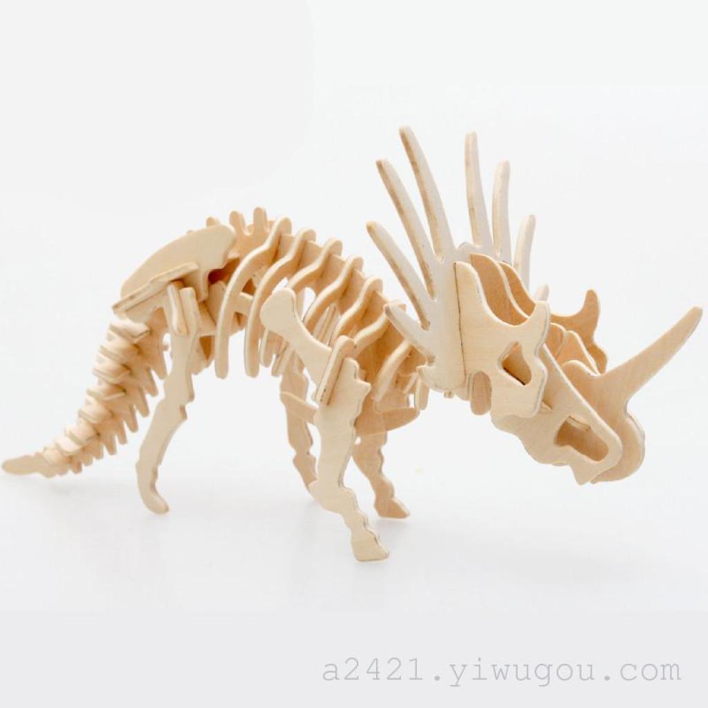 霸王龙3d立体拼图休闲益智玩具适合中老年儿童摆件淘宝热卖
