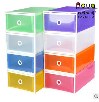 The explosion of MS increase thickened double plastic wrapping box drawer type shoe box color box