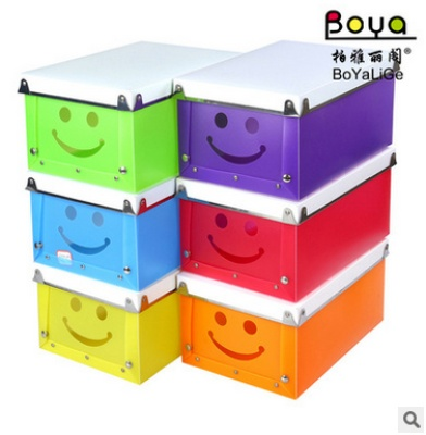 PP plastic metal edging buckle smile box multi-function receive candy color series