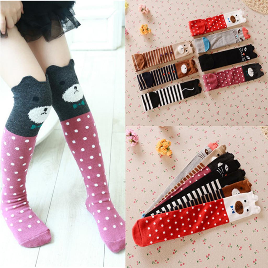 e79bfc8dd52 Children in tube socks cotton socks girls stockings Thigh High Stockings  baby solid socks stockings