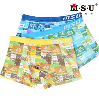 You really want to MSU men's underwear fabric wide waist stamp tanboocel boxer underwear 68711