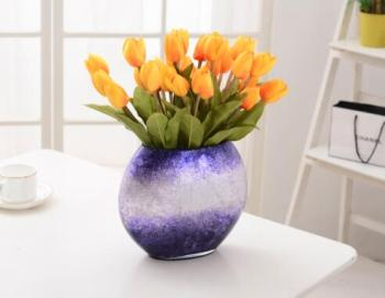 Modern minimalist painted glass vase table living room decoration crafts Home Furnishing wedding decoration