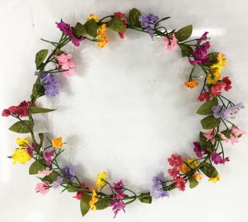 欧美韩海边旅游度假森系彩色花环发箍头戴饰品