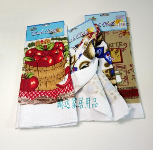 Printed cotton towel towel elevator absorbent towel cloth cotton tea towel