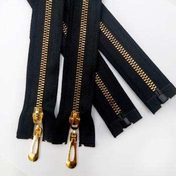 No. 5 resin zip imitation yellow teeth metal zipper clothing decorative spot