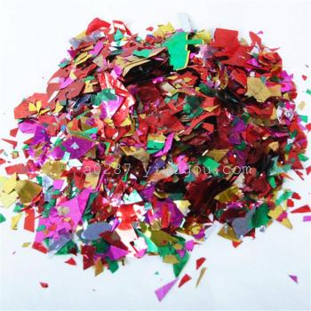 Hand throwing debris and flower color paillette fairy atmosphere