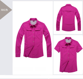 The detachable waterproof windproof fast drying drying pants suit shirt mountaineering clothing sunscreen outing