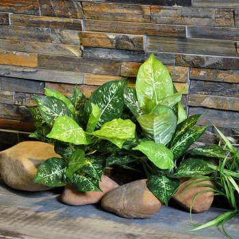 植物墙配材 仿真绿植 斑点万年青叶