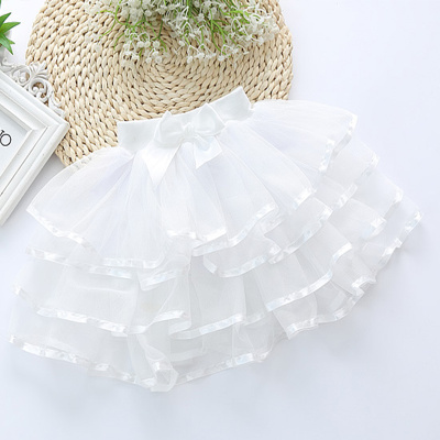 2018 new spring manufacturers selling children's clothing wholesale trade Shaqun girls four layer gauze skirt