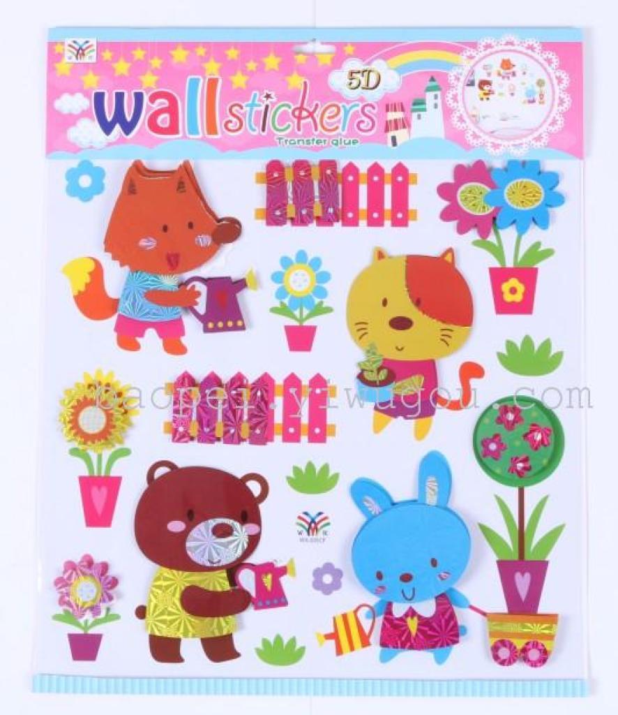 cartone animato degli strati di stanza decorazione muro decorativo adesivi apposto sull'asilo